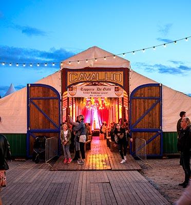 Festival tent hire - Tent Cavalho